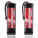 AWANFI 2 Pack RC Akku 8,4V 4200mah Nimh Akkupack Modellbau Batterie mit Deans T Stecker Ersatzakku...