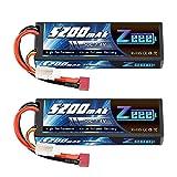 Zeee 2S Lipo Akku 7,4V 50C 5200mAh RC LiPo Batterien Hard Case mit Deans T Steck für RC Auto, RC...
