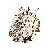 HSAW Holzpuzzle Modellbau Set DIY hölzerne Spieluhr 3D-Holz-Modellbaukästen for Kinder und...