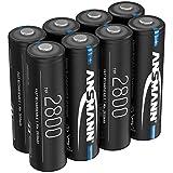 ANSMANN Akku AA Typ 2800mAh NiMH 1,2V - Mignon AA Batterien wiederaufladbar, hohe Kapazität ideal...