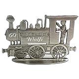 Zinngeschenke Lokomotive patiniert aus Zinn als stehende Figur mit Ihrer Wunschgravur, siehe...