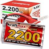 Kraftmax Akku Racing-Pack mit Tamiya Stecker - 9,6V / 2200mAh (min 2000 mAh) NiMH Akku/Hochleistungs...