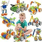 MOONTOY Konstruktionsspielzeug für Kinder, STEM Gebäude Kit Bausteine Spielzeug für Jungen und...